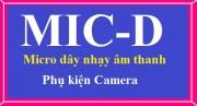 Phụ kiện camera Micro nhạy âm thanh MIC-D